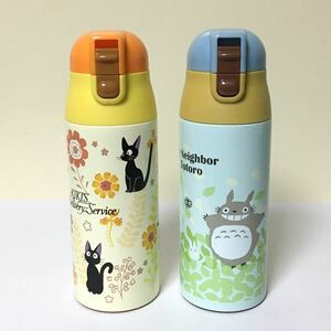 新品 トトロ&ジジ 保温保冷ステンレスマグボトル 2点セット 直飲み水筒 ワンプッシュ 超軽量 360ml
