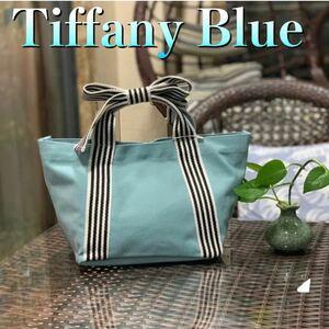 トートバッグ ミニバッグ ランチバッグ キャンバス ミニトート お出かけ TiffanyBlue ミニキャンパス