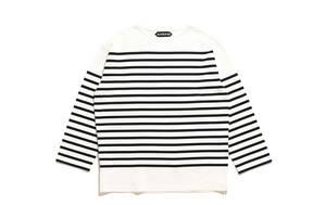 新品 AUBERGE オーベルジュ ビッグシャルロット BIG CHARLOTTE 44 ホワイト ブラック 白ベースに黒ライン バスクシャツ