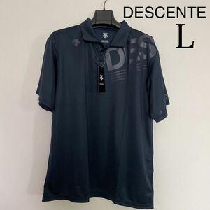デサント メンズ 半袖機能ポロシャツ ポロシャツ DX-C0765AP 新品 ネイビー サイズL 半袖 L