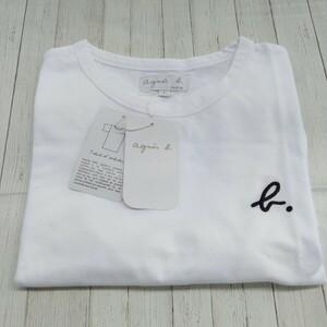 アニエスベー  agnes b. ホワイト 半袖 ロゴ刺繍 Tシャツ 即日発送 Mサイズ