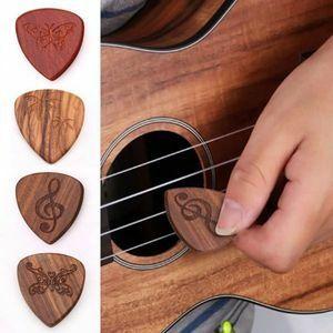 アコースティックギターピック 木製 楽器アクセサリー