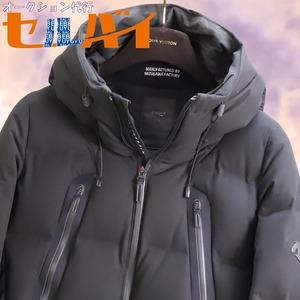 本物 超美品 水沢ダウン デサント ALLTERRAIN マウンテニア ダウンブルゾン メンズS ブラック ジャケット コート DESCENTE