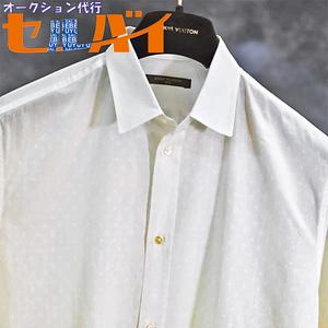 本物 超美品 ルイヴィトン 極希少 全面総モノグラム ドレスシャツ メンズS 半袖 トップス ジャケット 国内正規品 LOUIS VUITTON