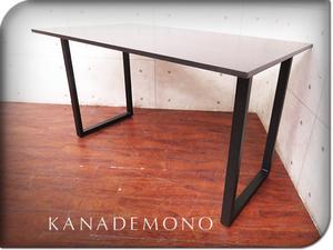 ■展示品/KANADEMONO/カナデモノ/高級/THE TABLE/ザ テーブル/ラバーウッド×ブラックスチール/モダン/スタンディングデスク/10万/sww7122t