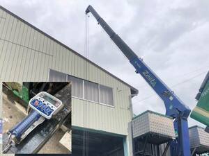 タダノ カーゴクレーン 4段クレーン フックイン ラジコン付き 2.93t 角足 TM-ZE304HR ユニック 2012年