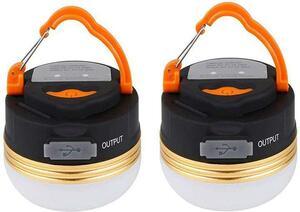 【G31N‐2XO】新品LEDランタン 2個セット USB充電式 キャンプ ライト 防水 アウトドア