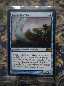 2985/潮縛りの魔道士/Tidebinder Mage/基本セット2014【通常版】/【英語版】