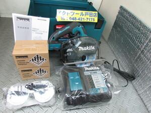 未使用 マキタ 充電式150mmチップソーカッター CS553DRGXS 18V/6.0Ah バッテリ2個付き