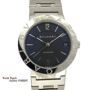 【ブルガリ(BVLGARI)☆BB33SS】 ブルガリブルガリ 黒 自動巻き 中古 メンズ腕時計【外装仕上げ☆Aランク】