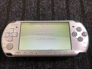 PSP3000 シルバー 本体 バッテリー 充電器 メモリースティックセット 超美品。純正、傷なし。新品同様レベル。