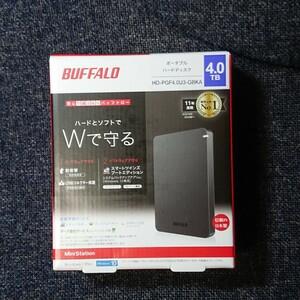 新品 BUFFALO 外付けHDD 4TB ポータブルハードディスク バッファロー