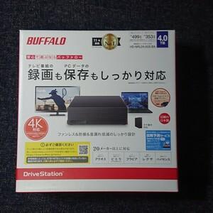 新品 HD-NRLD4.0U3-BA 外付けハードディスク 4TB バッファロー