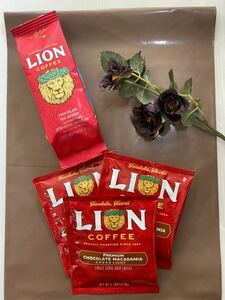 ライオンコーヒー●チョコレートマカダミア ●1.75oz●49g ●ライオンドリップ3袋