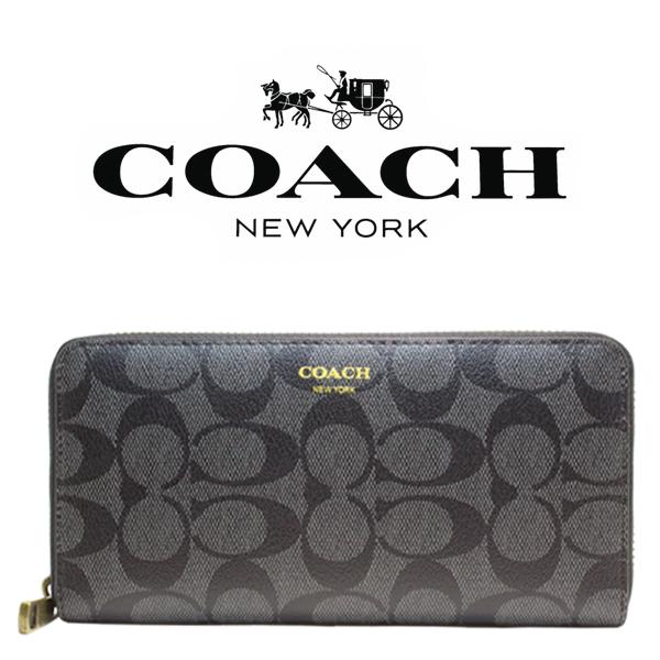 送料無料♪コーチ高級長財布●ブリーカーチャコールブラック・F74597●COACHアウトレット新品・未使用品♪