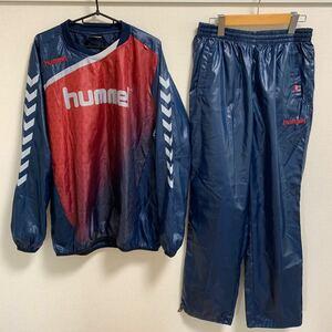 【美品 XL相当】hummel ピステ 上下セット ヒュンメル サッカー フットサル ウィンドブレーカー トレーニングウェア スポーツウェア