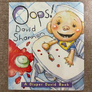新品英語絵本 Oops!david!