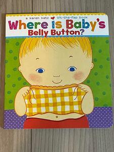 新品英語絵本 しかけ絵本where is baby's belly button