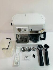 【未使用品】DeLonghiコンビコーヒーメーカー ホワイトBCO410J エスプレッソ デロンギコーヒーメーカー デロンギ