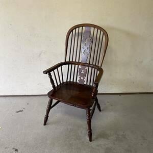 GM10IT① 九州民芸家具のレトロな椅子 伝統工芸品 古民家に ダイニングチェア アームチェア