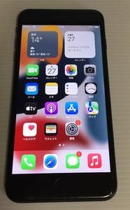 SIMフリー iPhone7 plus 128GB バッテリー100% ジェットブラック  送料0円
