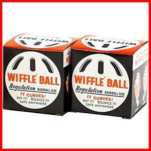 【人気商品】 白 Ball WIFFLE 箱入 セット 2個 [日本正規品], ウィッフルボール 白