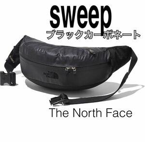 ブラック×ブラック ★ノースフェイス★スウィープ ウエストポーチ ウエストバッグ