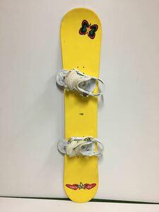 スノーボード 138cm バインセット BURTON バートン 白 Sサイズ バインディング ビンディング