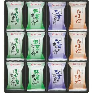 ▲アマノフーズ フリーズドライ 味わいづくし(24食)/M-300A/送料無料/みそ汁スープ/即決/ギフト可