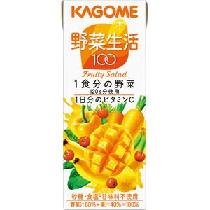 ■カゴメ 野菜生活100フルーティーサラダ/200ml×24本入り/