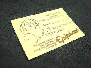 Epiphone John Lennon EJ-160E 中ラベル 純正 リペアパーツ