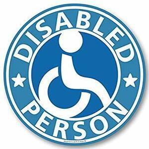 【マグネット】車椅子マーク マグネット ステッカー/身障者マーク 福祉車両 車いす 車イス(ブルー)