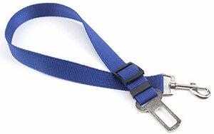 ブルー PureNicot ペット用シートベルト 愛犬を守る 安全ベルト 簡単装着 差込口に繋げるだけ 長さ調節可能 車専用 ペ