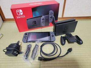 Nintendo Switch バッテリー強化モデル グレー 動作確認済 ニンテンドースイッチ本体 任天堂