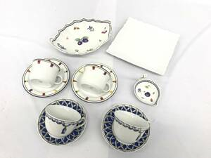 ●1円 リチャード ジノリ カップ&ソーサー プレート皿 食器 陶器 計7点セット HC434