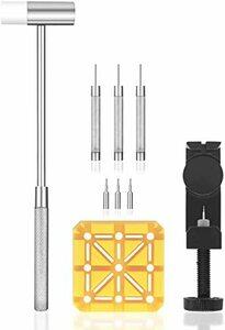 腕時計バンド調整 10点セット 腕時計ベルト調整/交換/修理ツール サイズ調整工具 耐久性
