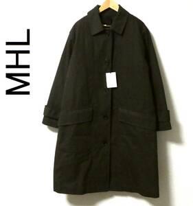 新品 20AW MHL エムエイチエル マーガレットハウエル PROOFED COTTON NYLON TWILL ダウンライナー付き ステンカラーコート 0