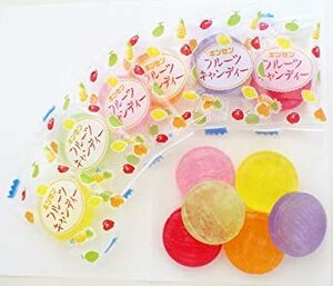 金扇 フルーツキャンディ 100個入り 大きいサイズ 直火炊き お徳用 フルーツ飴