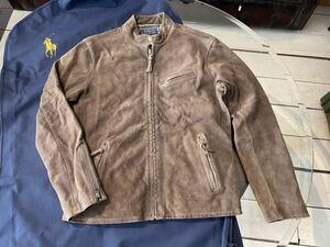 新品 未使用 今期物 ポロ ラルフローレン 牛革 レザー シングル ライダース ジャケット 革ジャン ポロスポーツ ラグビー RRL