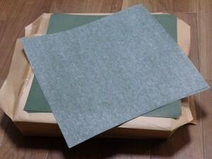 大量/1000枚 包装紙 ラッピングペーパー 和紙 330*330 和のつどい/草色無地・白透かし ハンドメイド ハンドクラフト