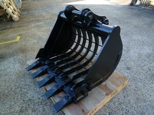 新品 スケルトンバケット クボタ RX306 U35 U30・日立建機 ZX30U 用 80x90mm ノーブランド製品