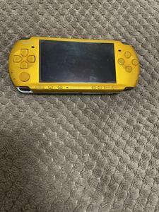 送料無料 不都合あり PSP-3000 PSP本体 イエロー 黄色