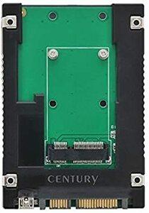"""ブラック センチュリー mSATA-SSD to 2.5""""SATA変換アダプター 「裸族のインナー for mSAT"""