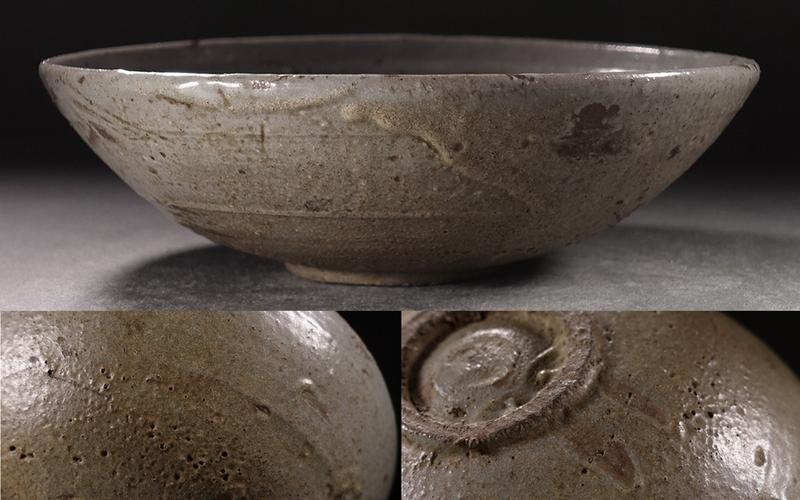 ?花?13世紀高麗時代 高麗青磁平鉢(菓子器) 粋な高麗茶道具 ◇9