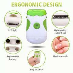 電動爪切り 爪やすり 電動爪やすり ネイルケア 電池式 LEDライト