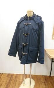 ※良品※ Golden Bear ダウンジャケット size: L 流行に左右されない紺色ダッフル 表地 ポリエステル(G7421)