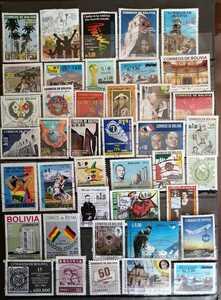 ポリビア国 利用済み40枚切手