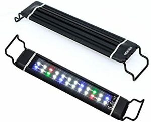 28CM-46CM 水槽 ライト タイマー付き 五色LEDライト 明るさ調整 水槽照明 アクアリウムライト 28~46cm水槽用