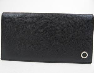 39980★ BVLGARI ブルガリ 極美品 ブルガリブルガリマン 財布 黒 札入れ レザー ブラック メンズ