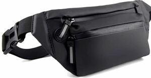 ウエストポーチ メンズ レディース ウエストバッグ ファスナーまで防水耐久性5つ仕切り ショルダーバッグ 6.5インチスマホに対応